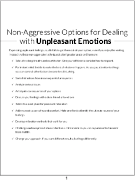 plr checklists non aggressive options for dealing with unpleasant