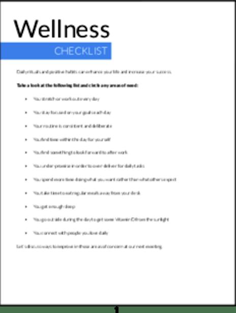 plr checklists wellness checklist plr me