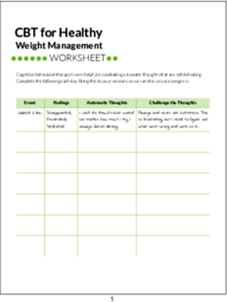 plr worksheets cbt for healthy weight management worksheet plr me