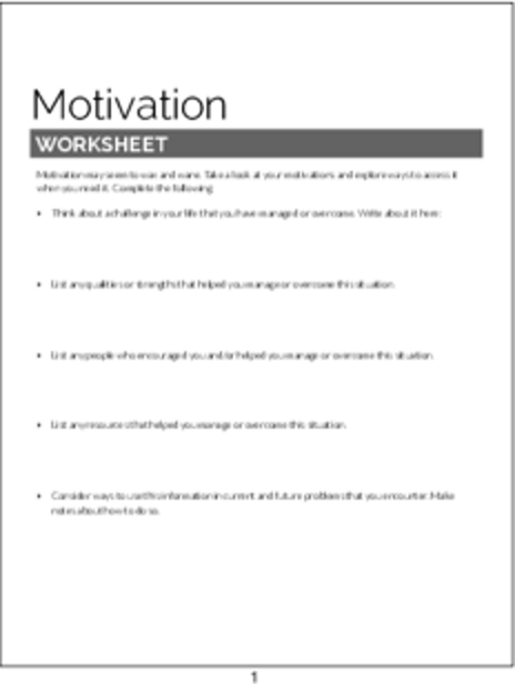 Plr Worksheets Motivation Worksheet Plr Me