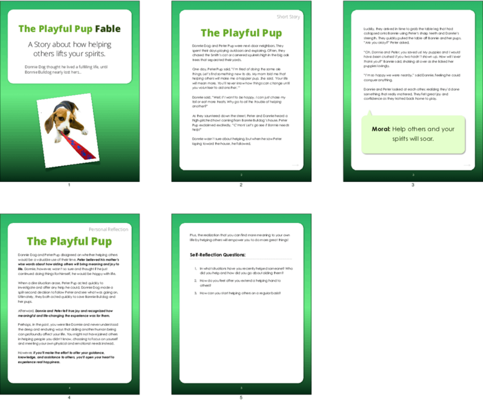 PLR Fables & Short Stories - The Playful Pup Fable - PLR.me