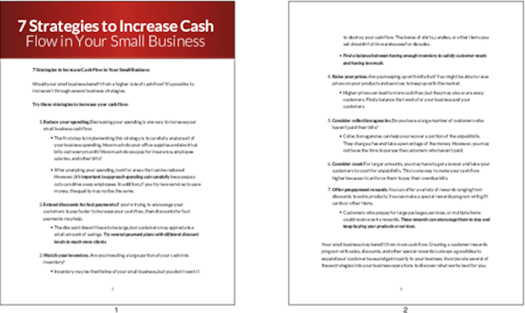 PLR Articles Blog Posts 7 Strategies To Increase Cash Flow In